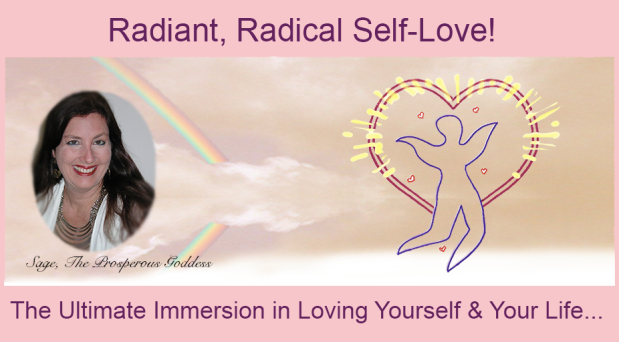 Radiant Radical Self-Love Immersion pink banner Sage