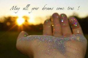 may your dreams come true sparkly hand