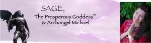 Archangel Michael Sage Prosperous Goddess banner