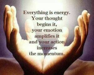 EVERYTHING IS ENERGY hands
