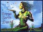 happy Earth day green Gaia goddess
