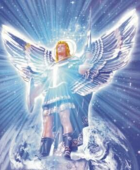 Archangel Michael blue on Earth beautiful image use