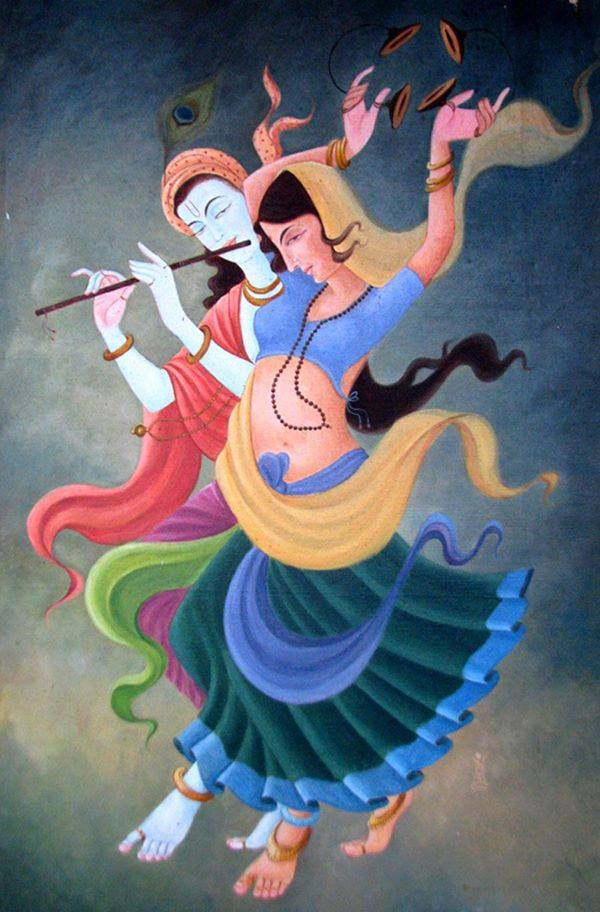 Dancing God Goddess tantric couple ALA