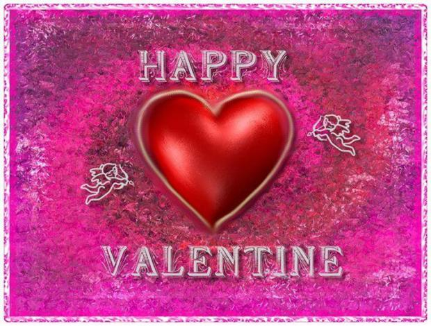 happy valentine pink