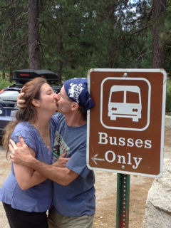 Us kissing 2013 Yosemite kiss busses only