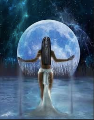 full moon goddess blue water gown magical.png