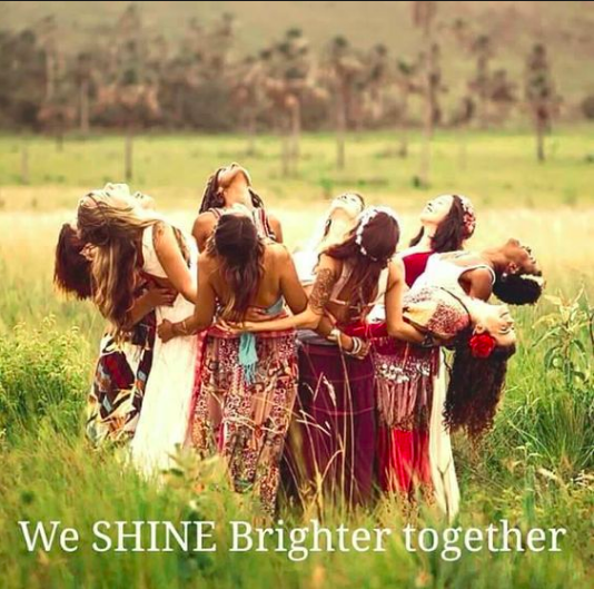 We shine brighter together women circle PG